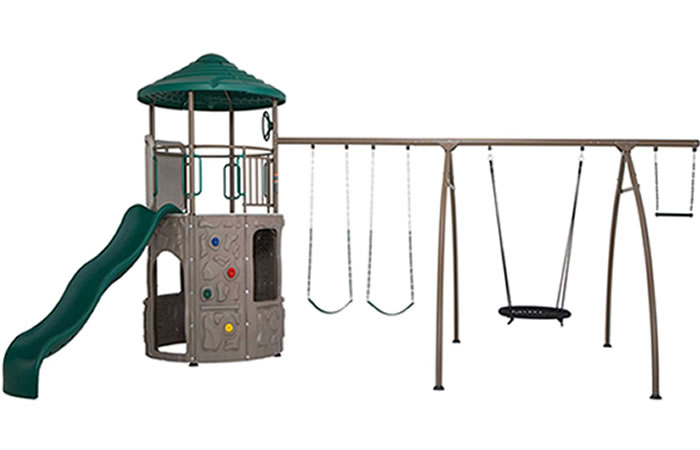 Lifetime Adventure Tower w/ Spider Swing - Earthtone