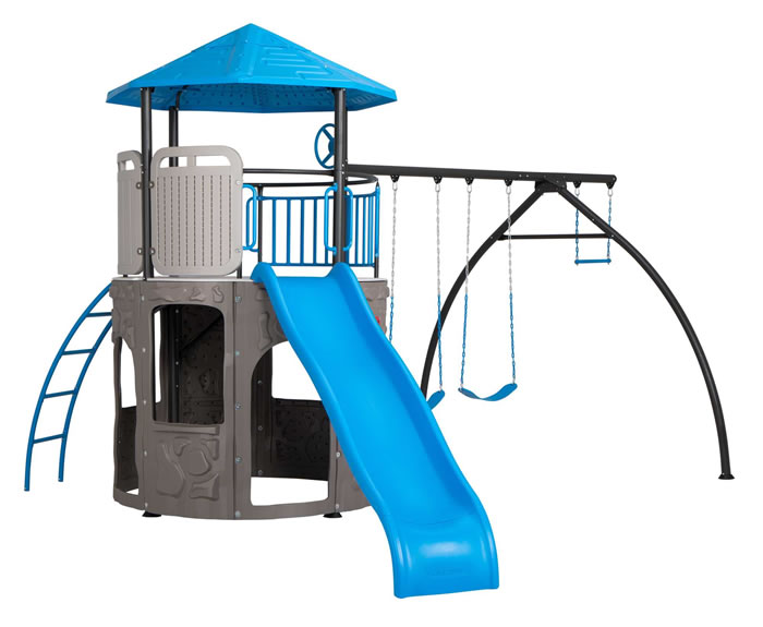 Lifetime Adventure Tower Swingset Playset - Blue
