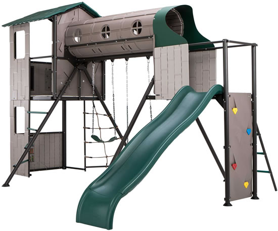 Lifetime Adventure Tunnel Swing Set 290704 Side View