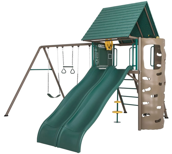 Lifetime Big Stuff Adventure Double Slide Swing Set
