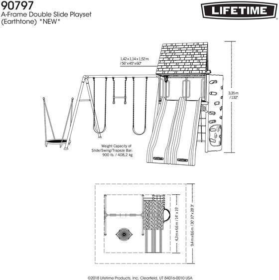 Lifetime Playground 90797 Measurements