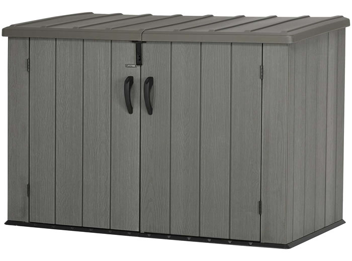 Lifetime 6x3 Trash Can Storage Shed Kit - Woodgrain