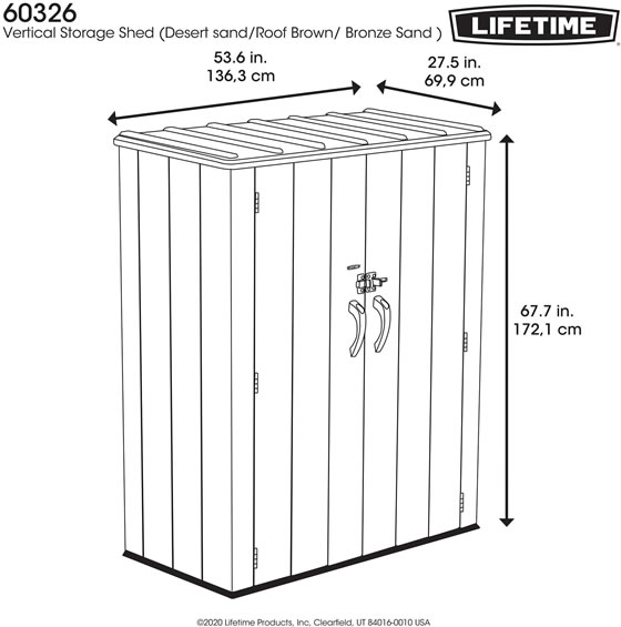 Lifetime Vertical Shed Measurements