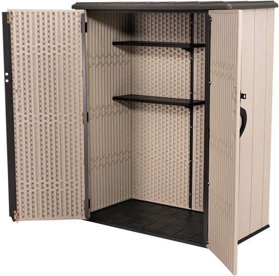 Lifetime Vertical Shed Includes 2 Shelves!