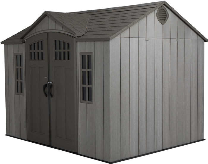 Lifetime 10x8 Shed Kit w/ Vertical Siding - Roof Brown