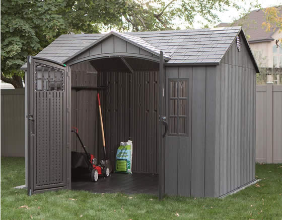 Lifetime 10x8 Shed 60330 - Installed In Backyard - Inside View