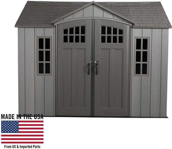 Lifetime 10x8 Shed 60330 is Made in the USA from US and Imported Parts!