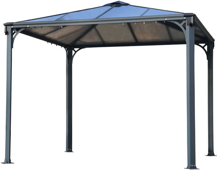Palram 10x10 Palermo Gazebo Kit 3000 - Gray / Bronze