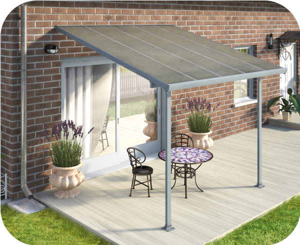 Palram 10x10 Feria Patio Cover Kit - Gray