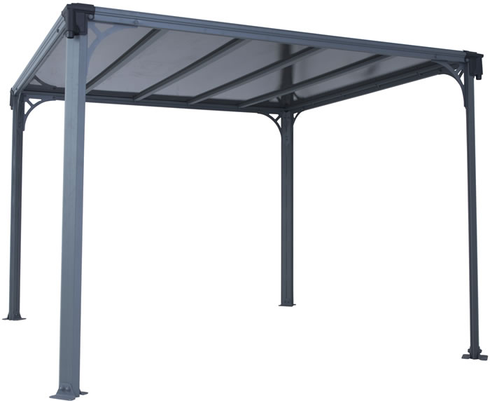 Palram 10x10 Milano 3000 Gazebo Kit - Gray