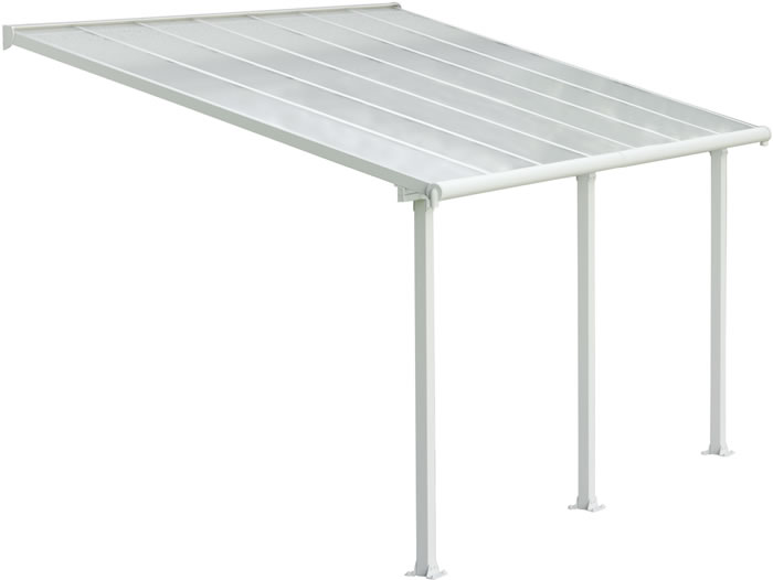 Palram 10x14 Olympia Patio Cover Kit - White