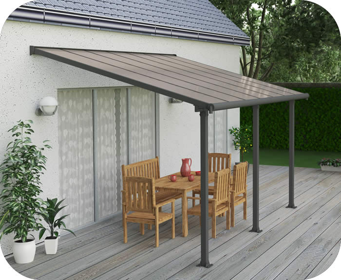 Palram 10x14 Olympia Patio Cover Kit - Gray Bronze [HG8814]
