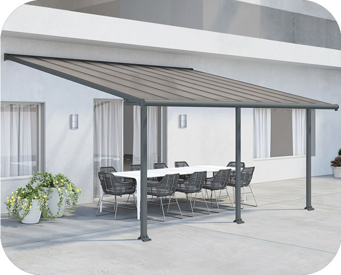 Palram 10x18 Olympia Patio Cover Kit - Gray Bronze