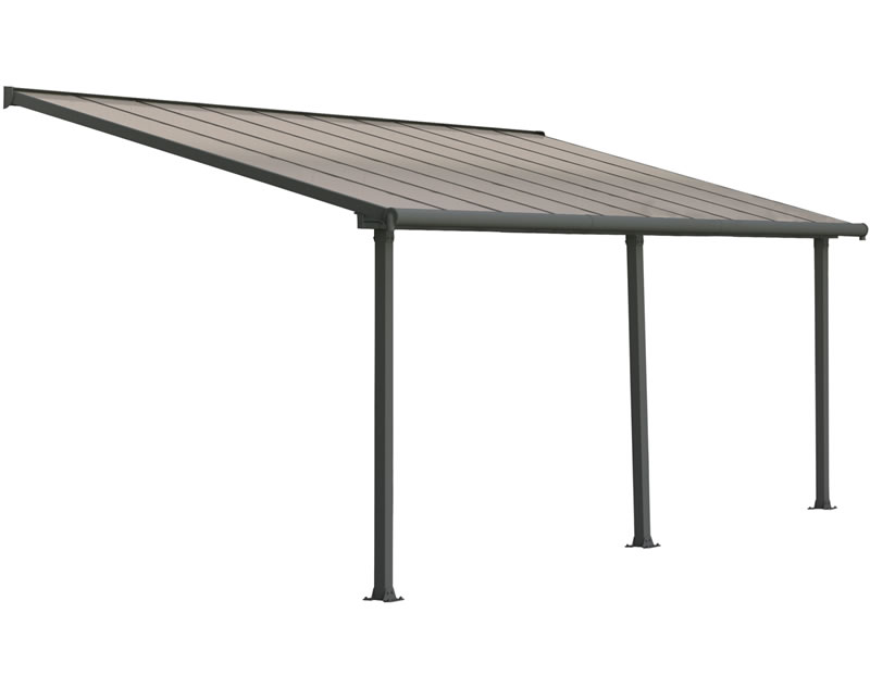 Palram 10x20 Olympia Patio Cover Kit - Gray Bronze