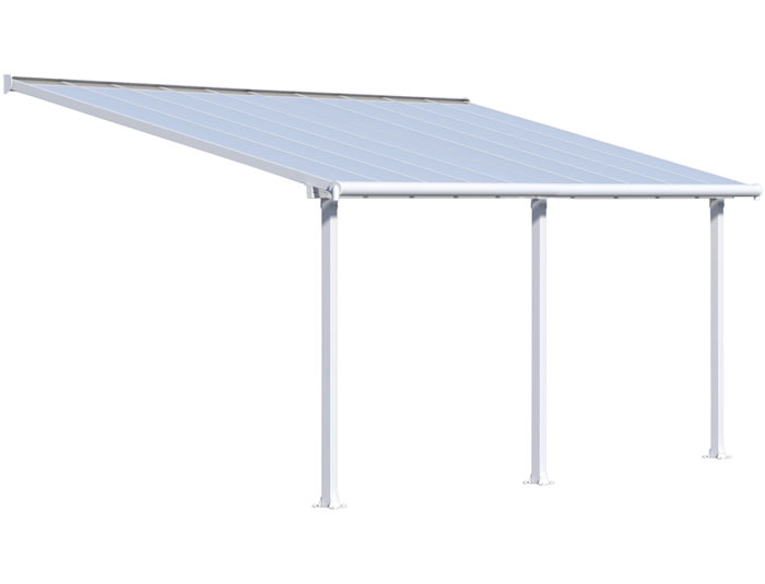 Palram 10x20 Olympia Patio Cover Kit - White