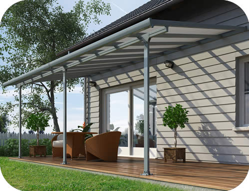Palram 10x24 Feria Patio Cover Kit - Gray