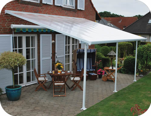 Palram 10x24 Feria Patio Cover Kit   White