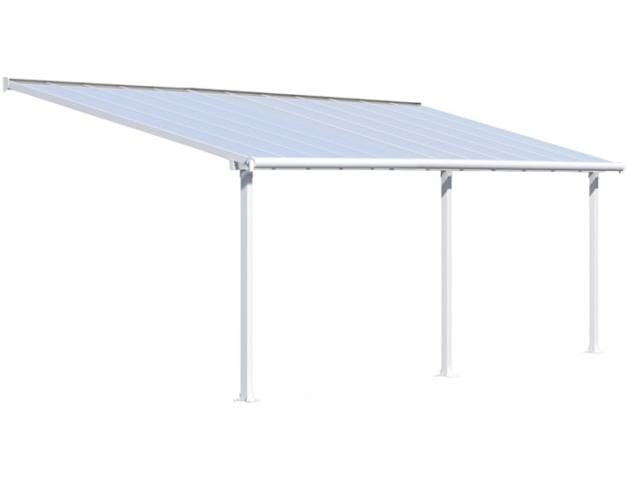 Palram 10x24 Olympia Patio Cover - White