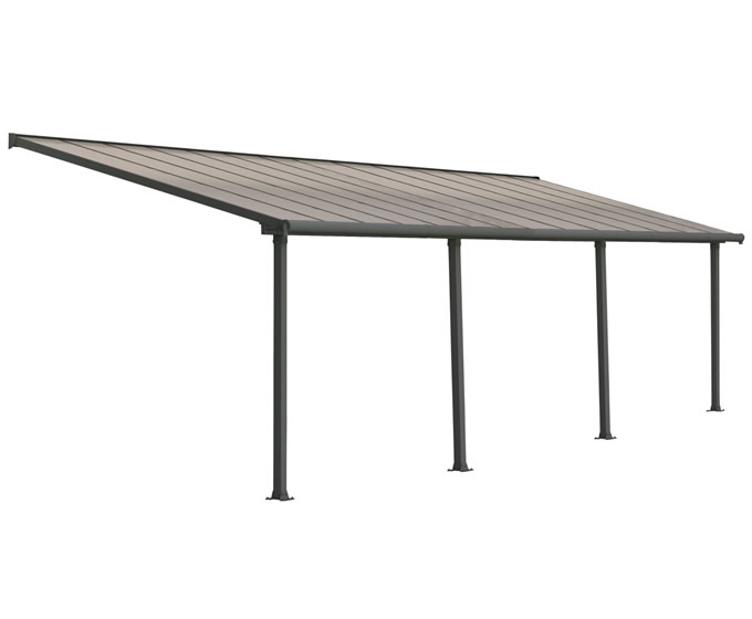 Palram 10x28 Olympia Patio Cover Kit - Gray Bronze