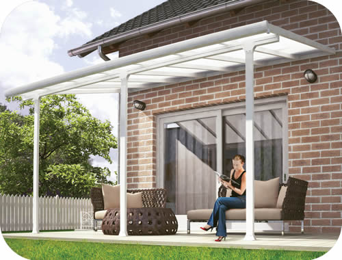 Palram 10x38 Feria Patio Cover Kit - White
