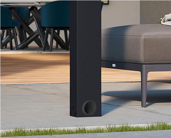 Palram Stockholm 11x19 Aluminum Patio Cover Unique Hidden Gutter System!