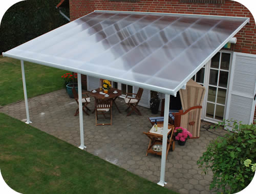 Palram 13x20 Feria Patio Cover Kit   White