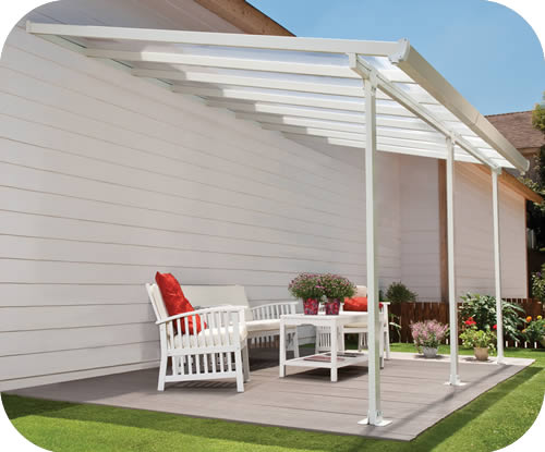 Palram 13x34 Feria Patio Cover Kit - White