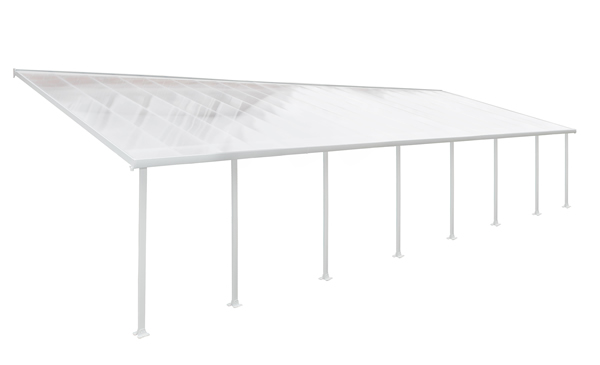 Palram 13x40 Feria Patio Cover Kit - White