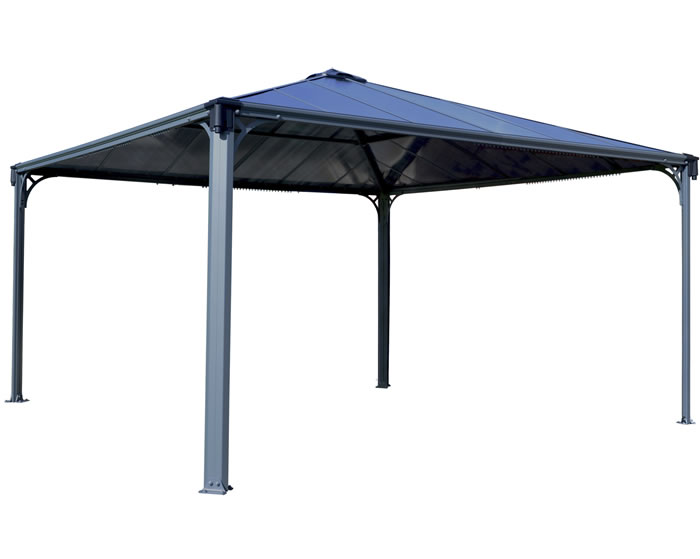 Palram 14x14 Palermo Gazebo Kit 4300 - Gray