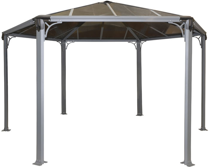 Palram 15x13x11 Monaco Hexagon Garden Gazebo Kit