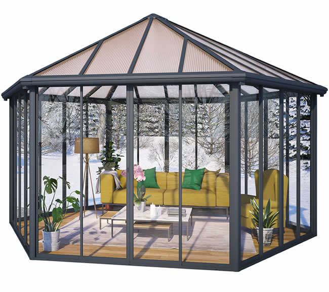 Palram 19.5x17 Garda Closed Gazebo Kit