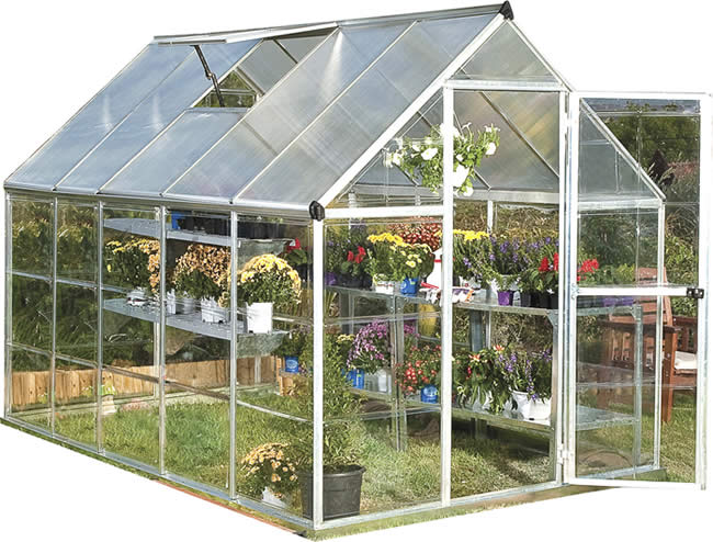 Palram 6x10 Hybrid Greenhouse Kit - Silver