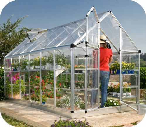 Palram 6x12 Snap & Grow Hobby Greenhouse Kit - Silver