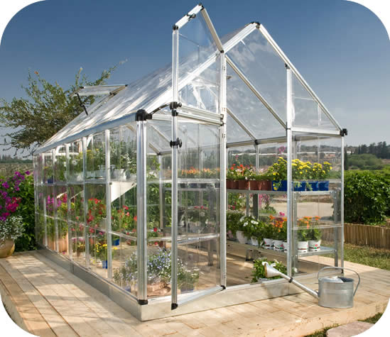 Palram 6x16 Snap & Grow Hobby Greenhouse Kit - Silver