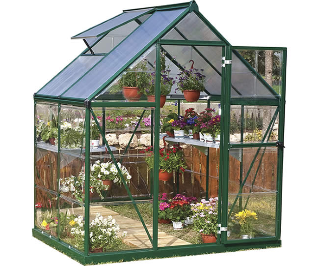 Palram 6x4 Hybrid Greenhouse Kit - Green