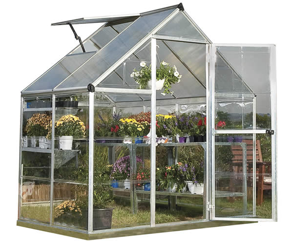 Palram 6x4 Hybrid Greenhouse Kit - Silver