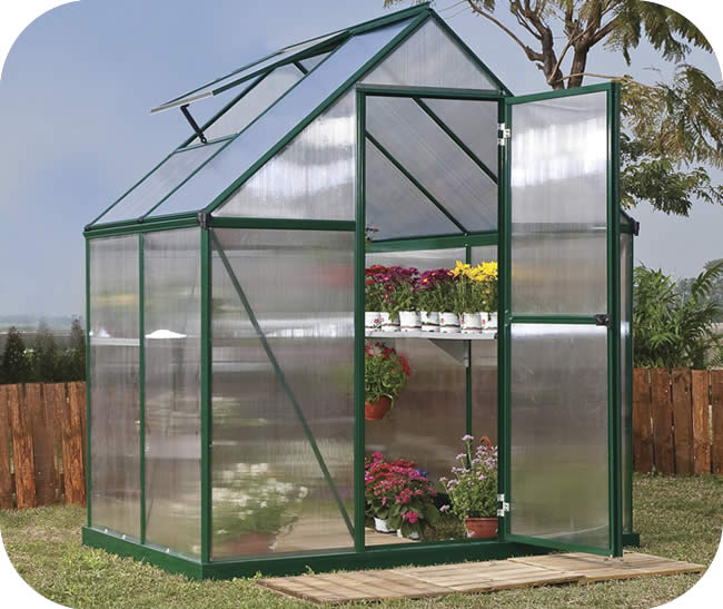 Palram 6x4 Mythos Greenhouse Kit - Green