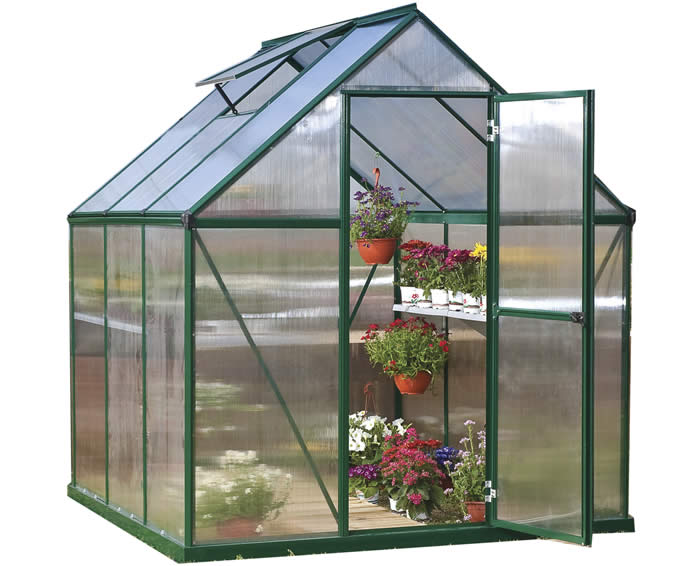Palram 6x6 Mythos Hobby Greenhouse Kit - Green