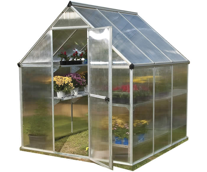 Palram 6x6 Mythos Hobby Greenhouse Kit - Silver