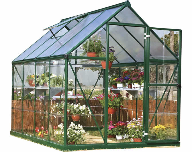 Palram 6x8 Hybrid Greenhouse Kit - Green