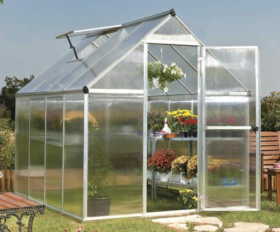 Palram 6x8 Mythos Hobby Greenhouse Kit Assembled