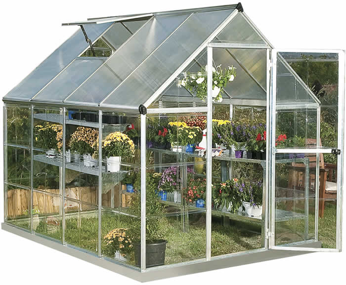 Palram 6x8 Hybrid Greenhouse Kit - Silver