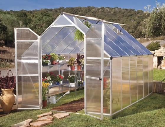 Palram 8x12 Essence Greenhouse Assembled In Backyard