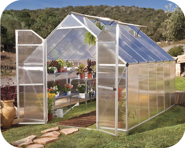Palram 8x12 Essence Greenhouse Kit - Silver