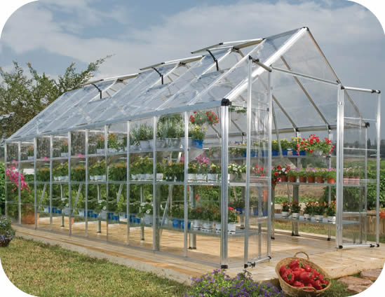 Palram 8x20 Snap & Grow Hobby Greenhouse Kit - Silver