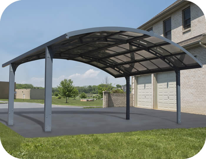 Palram Arizona Breeze Double Arch-Style Carport Kit