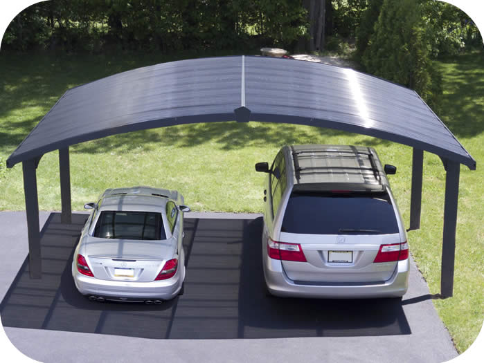 Palram Arizona Wave Double Arch-Style Carport Kit