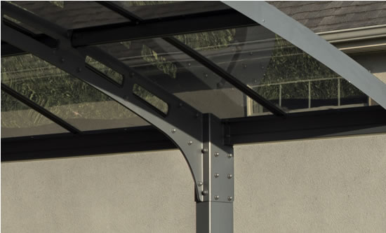 Palram Arizona Breeze Double Arch Carport Clear Roof Panels