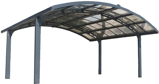 Palram Double Arch-Style Carport HG9104 View
