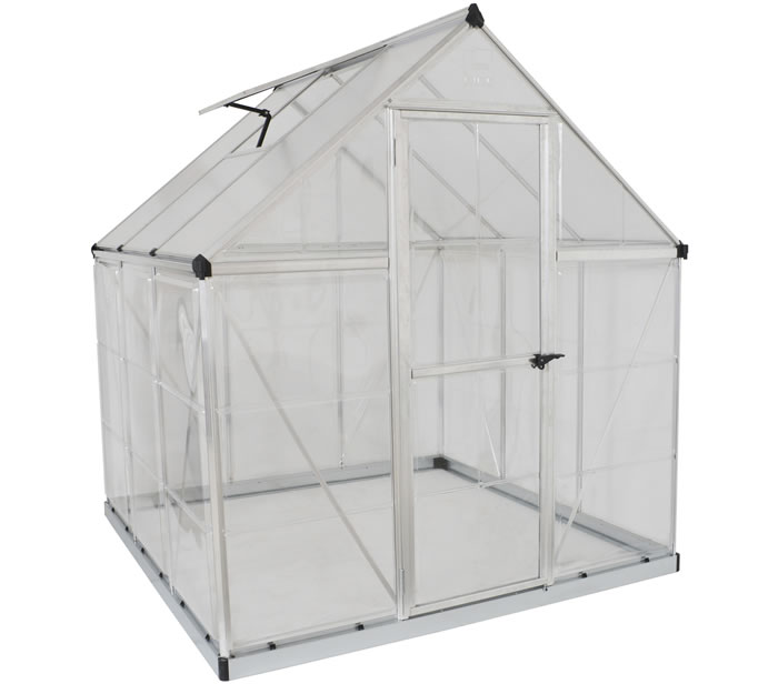 Palram 6x6 Hybrid Greenhouse Kit - Silver